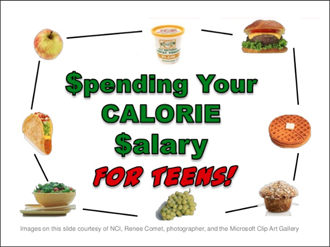 Calorie Salary for Teens PowerPoint Title Page