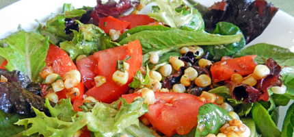 Salad with Pan-Roasted Corn recipe
