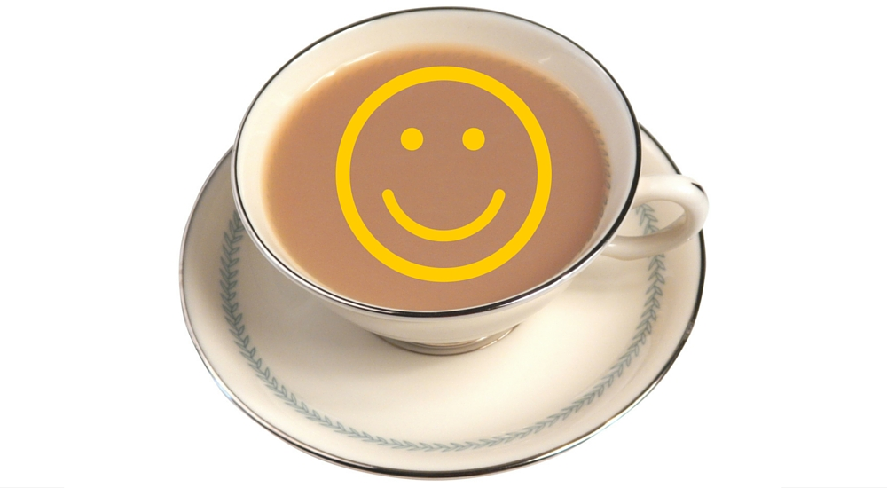 How to take the hassle out of feeding breakfast to overnight guests - coffee cup with smiley face