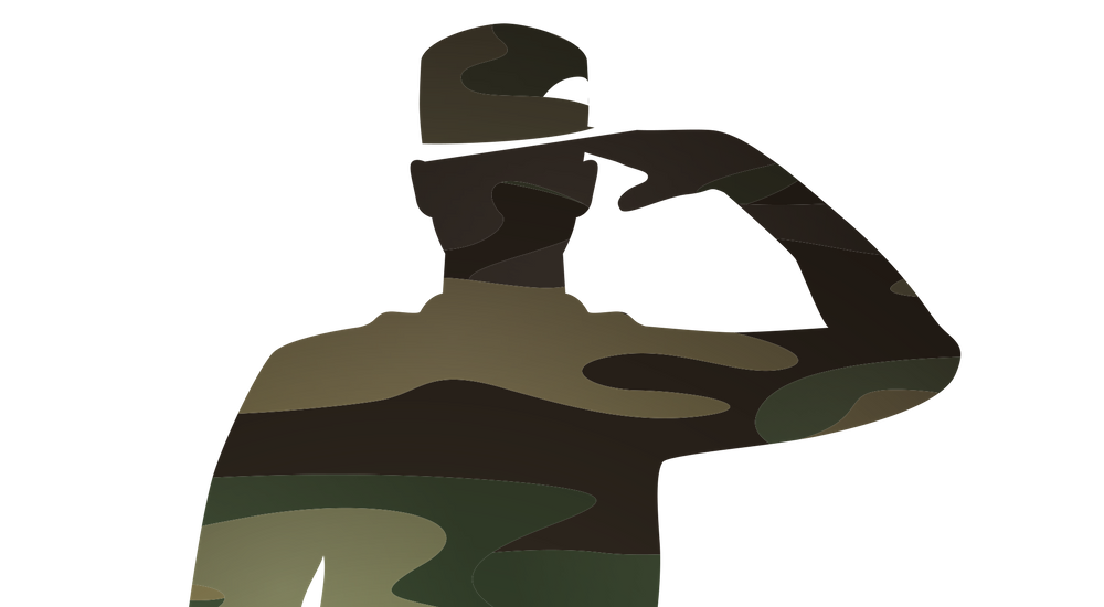 image of a person in the military saluting