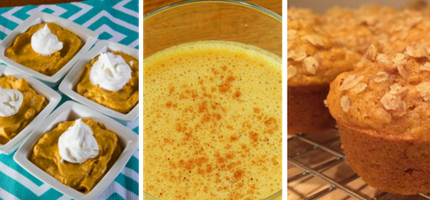 foods made with pumpkin puree