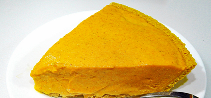 a slice of pumpkin ice cream pie