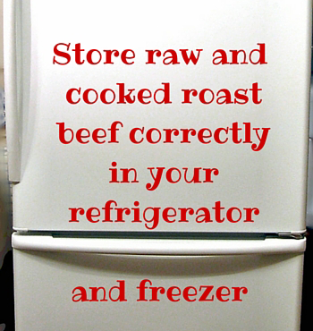 store raw and cooked roast beef correctly in your refrigerator and freezer
