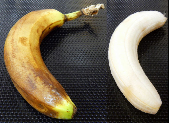 banana that has been refrigerated