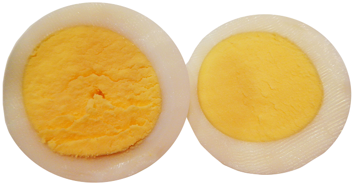 avoiding a green ring around hard boiled egg yolks