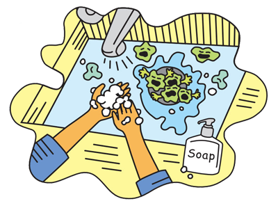 Sink Those Germs Poster and other FREE handwashing materials