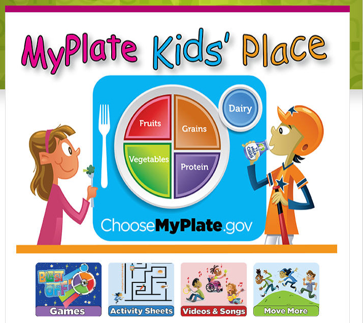 MyPlate for Kids Place for Parents and Educators from the USDA
