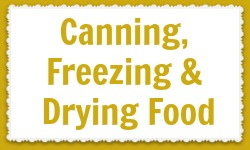 Canning, Freezing and Drying Food label