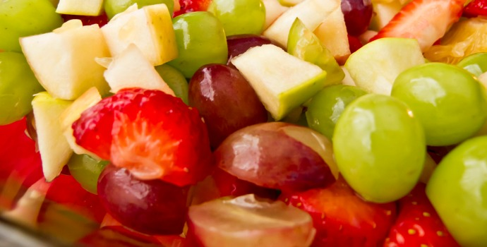 red and green fruits