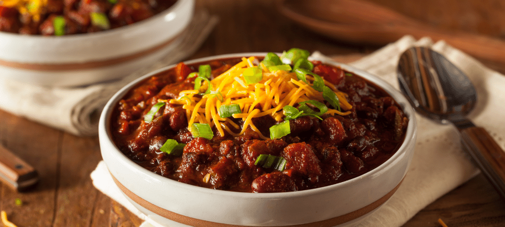 bowl of chili soup