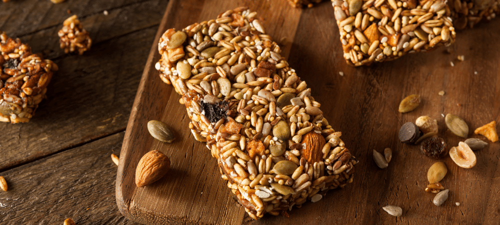 granola bars with seeds