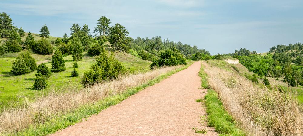 hiking trail in Nebraska