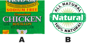 bouillon and natural food labels