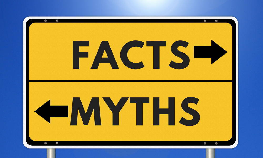 sign that says facts vs myths