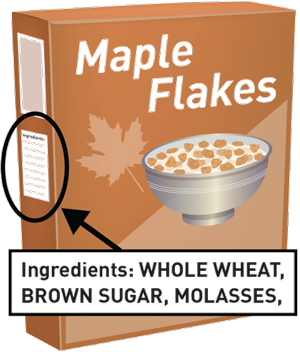 maple flakes cereal with ingredients listed
