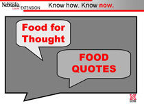 Food Quotes PowerPoint Title Slide picture