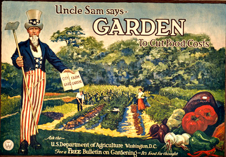 Uncle Sam poster from 1917: Uncle Sam says Garden