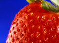 a strawberry to illustrate information on National Strawberry Month