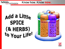 Add a Little Spice and Herbs PowerPoint title page