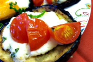 Eggplant with Ricotta Cheese and Tomatoes