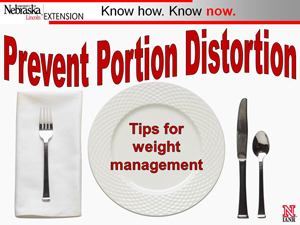 Prevent Portion Distortion PowerPoint, Handout and Online slideshow
