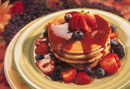 pancake with fruit topping