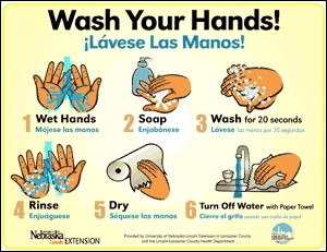 Adaptable image in free printable hand washing posters