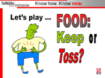 Keep or Toss PowerPoint Title slide