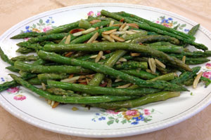 Asparagus with Toasted Almonds & Garlic
