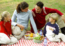 image of a picnic representing national picnic month