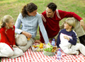 family enjoying a picnic