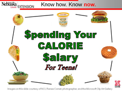 Teen Calorie Salary PowerPoint