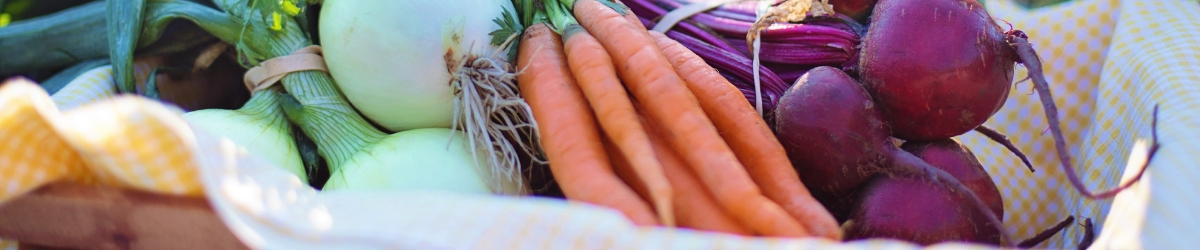 Root Vegetables in a Basket
