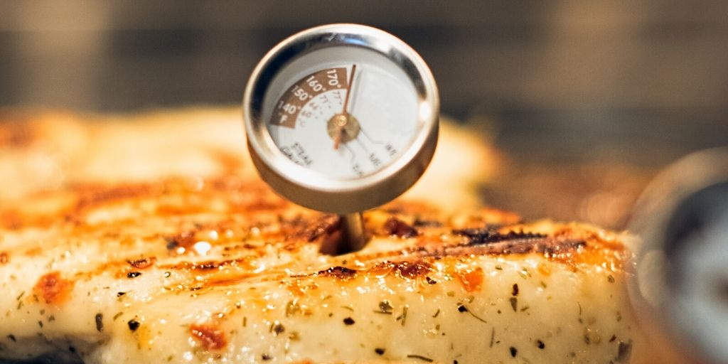 food thermometer in chicken