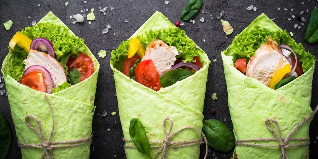 spring vegetable wraps