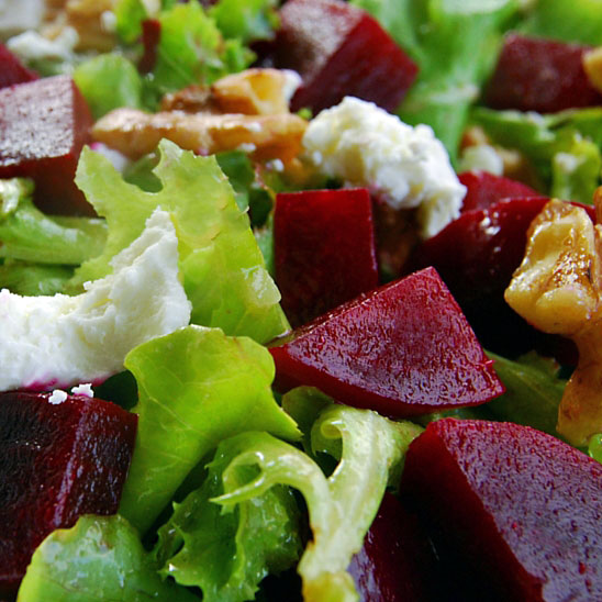 Beet, Walnut and Goat Cheese Salad