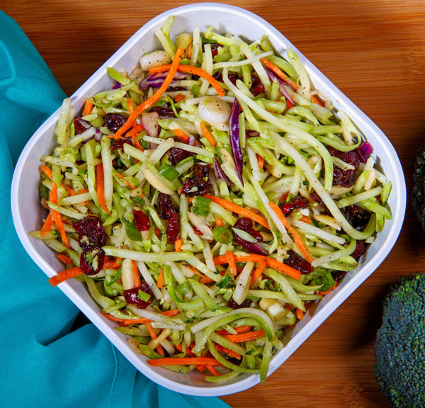 broccoli slaw with cranberries