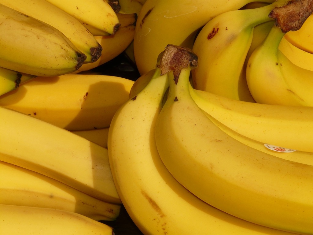 Close up of bunches of bananas