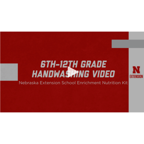 6th through 12th grade handwashing video