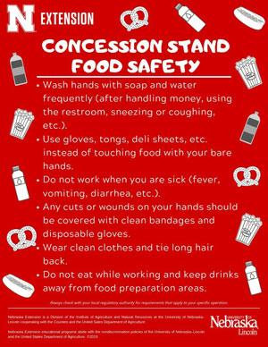 Concession Stand Food Safety English Poster