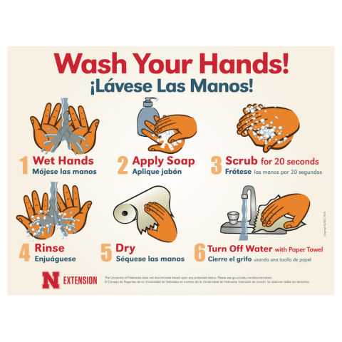 Handwashing Poster in English and Spanish