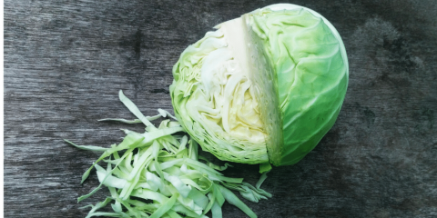 cabbage on a table
