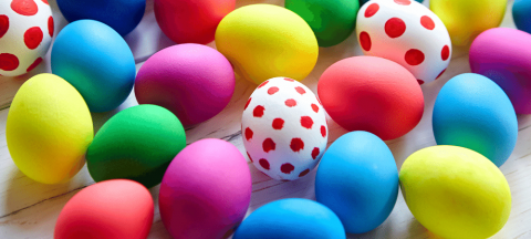 variety of colored Easter Eggs