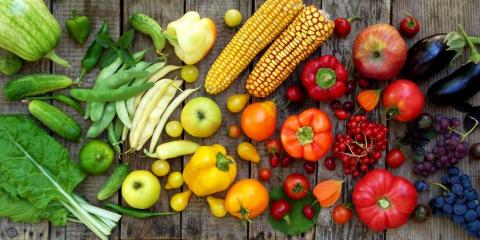fruit and veggie rainbow