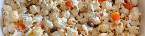 popcorn with halloween candy
