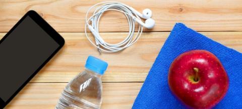 headphones, phone, water, apple