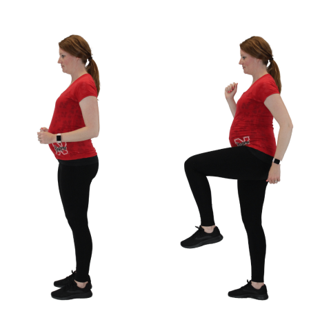 march exercise while pregnant