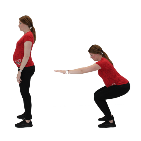 squat exercise while pregnant