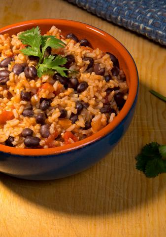 Super Quick Beans and Rice