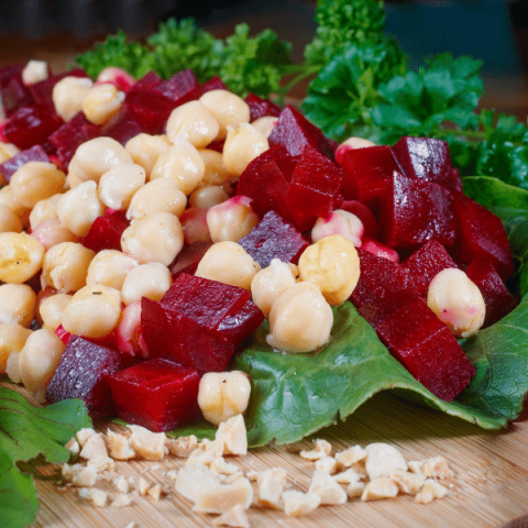 beet and chickpea salad